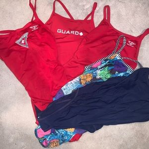 Life guard swim suits/ racing suit